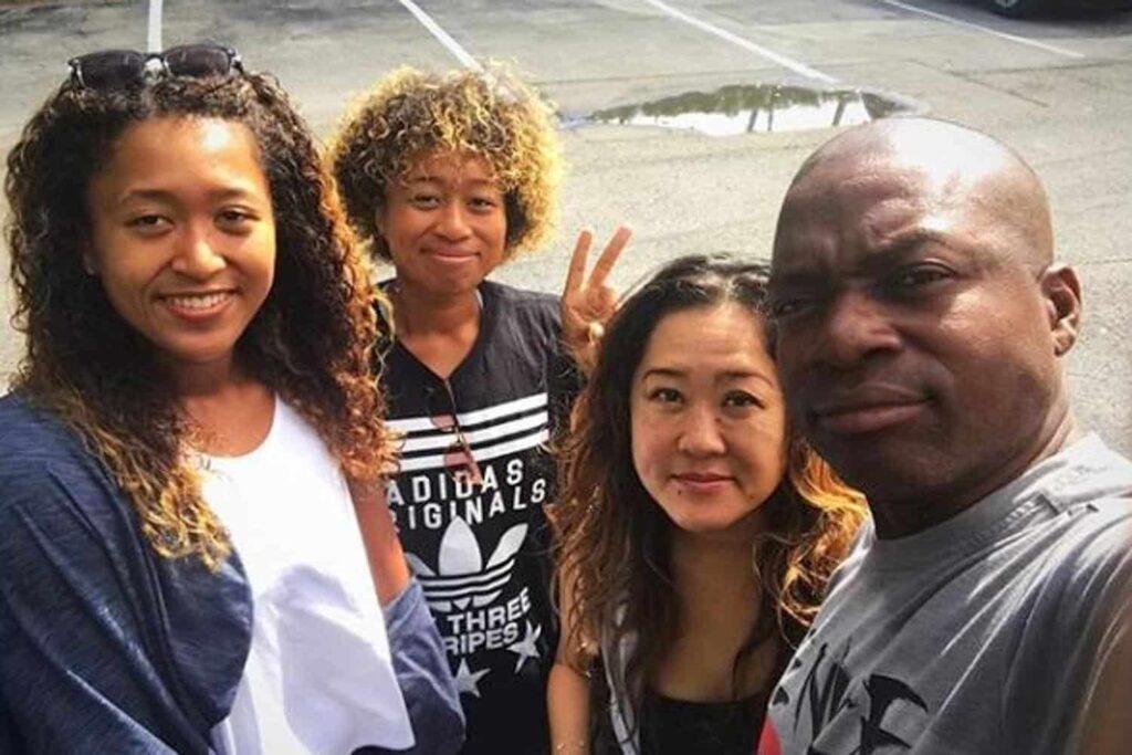 Naomi Osaka with her Family Members