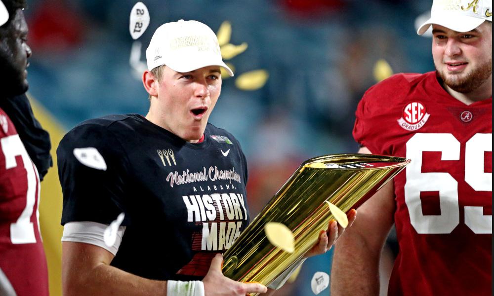 Alabama's Mac Jones with the National Championship