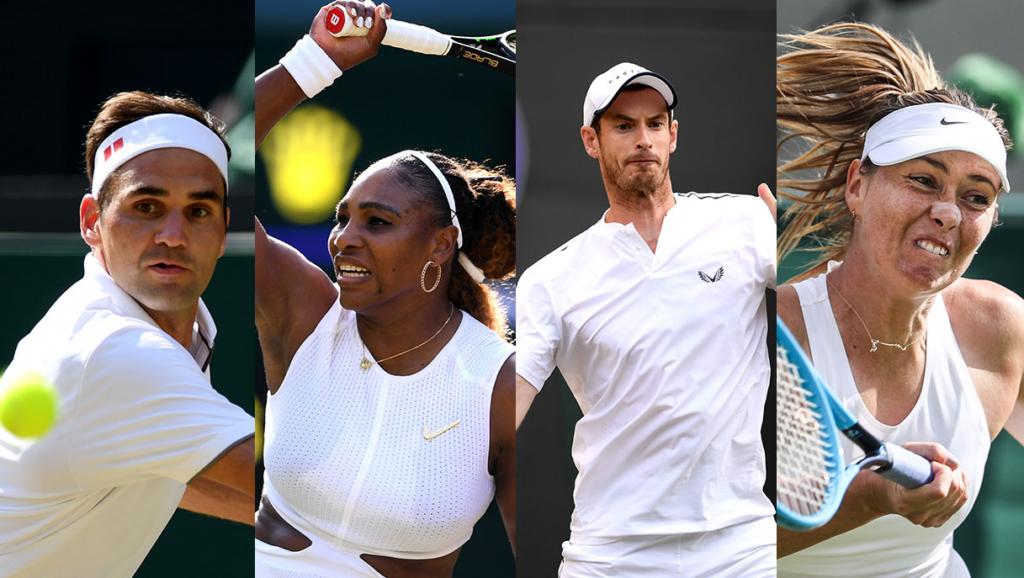 Players in Wimbledon 2021